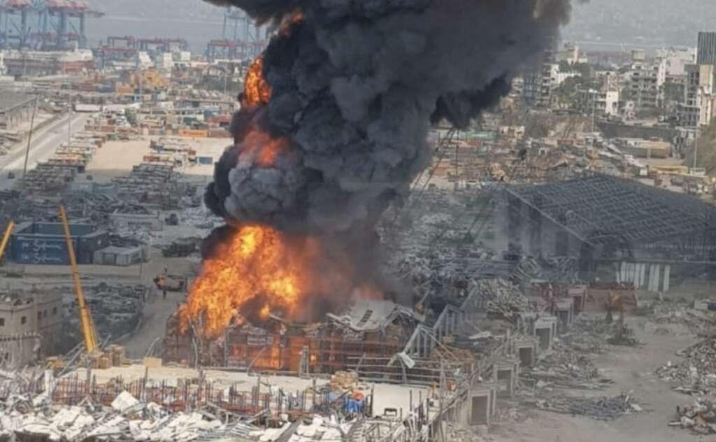 Beirut, fire, blast