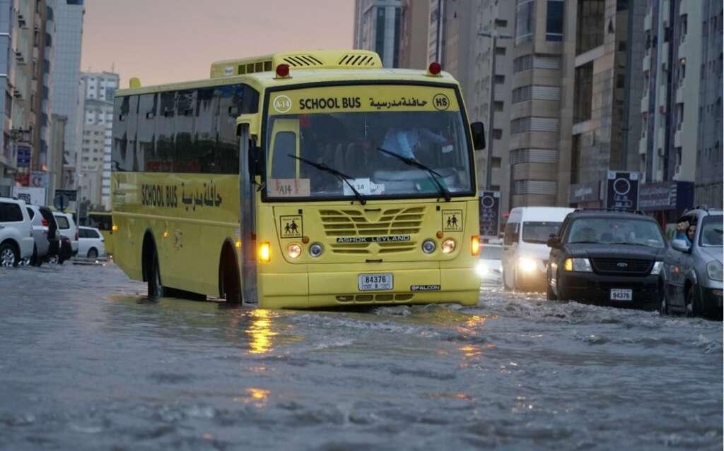 Several UAE schools send students back home due to rain