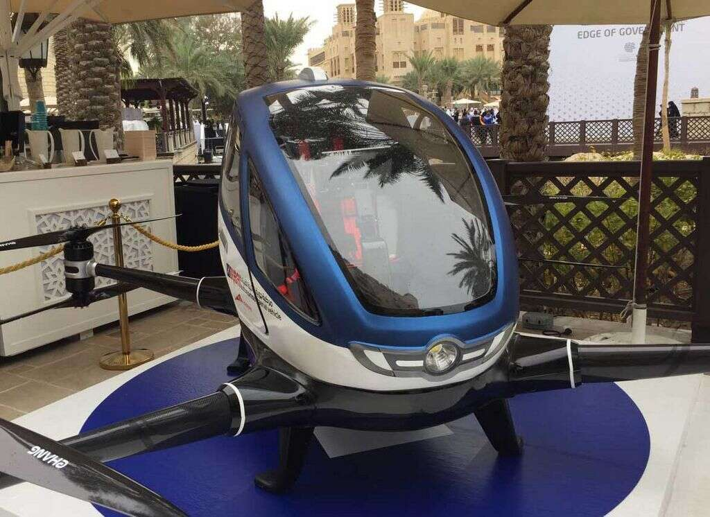 The RTA has showcased its first flying car at the ongoing three-day World Government Summit.