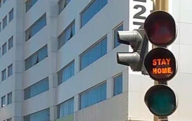 coronavirus, covid-19, traffic light, stayhome