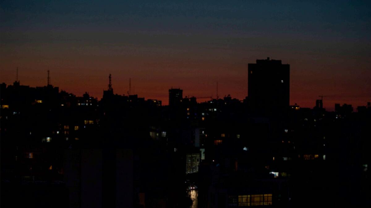 Lebanon's capital city of Beirut remains in darkness during a power outage. — AP file