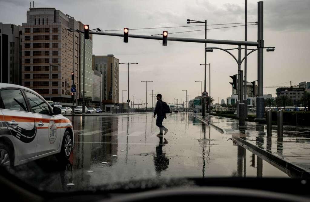 New drive, curb, jaywalking, Abu Dhabi, 48,000 jaywalkers,