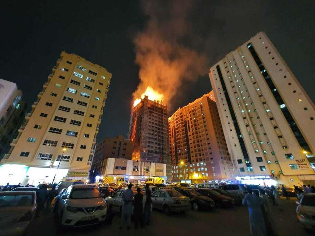 Sharjah fire, Mega Mall, under-construction building, fire in Sharjah, building fire